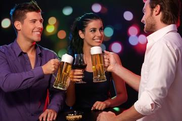 Happy companionship in nightclub