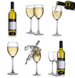 White wine collage