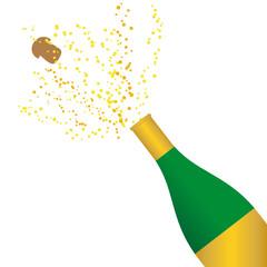 Sektflasche *Feste feiern*