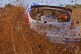 Fotoroleta Rallye terre