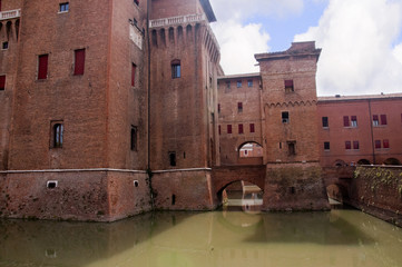 Castle at Ferrara in Northen Italy