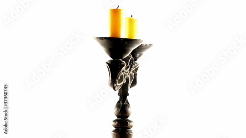 loop rotating candle holder