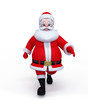 Santa Claus walking on the blank surface