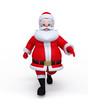 Santa Claus walking on the blank surface