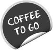 TF-Sticker rund COFFEE TO GO