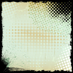 Abstract Art of Grunge Halftone Background