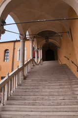 staircase in Ferrara Italy