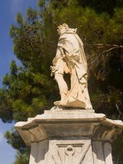 Statue in Corfu Town on the Island of Corfu Greece