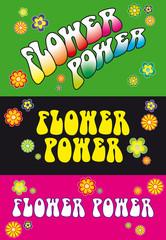 Flower Power Schriftzug