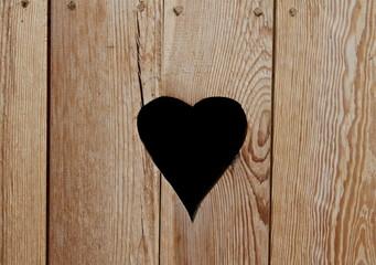 Toilettentür mit Herz