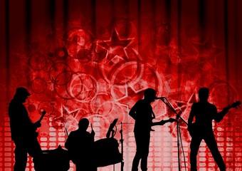 Red musical design