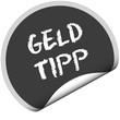 TF-Sticker rund curl unten GELD TIPP