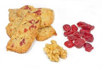 Weihnachtsplätzchen, Walnuss Cranberry Stangen