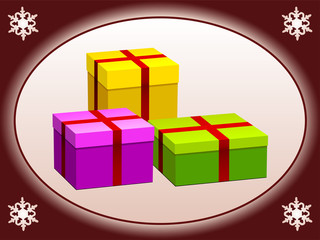vector gift boxes
