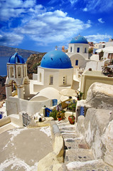 white - blue Santorini