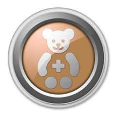 "Bronze 3D Style Button ""Pediatrics"""