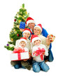 Christmas Family isolated on white
