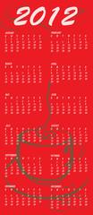 coffee style design Calendar for 2012
