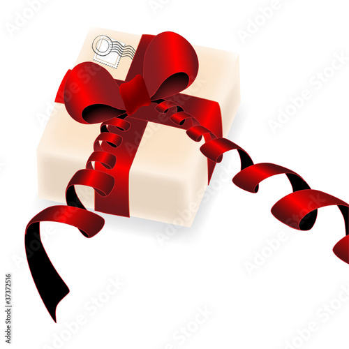 Vector gift with stamp