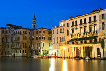 The Grand Canal during twilight
