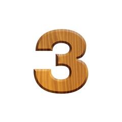 3 - Chiffre en bois - alphabet