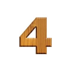 4 - Chiffre en bois - alphabet