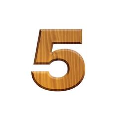 5 - Chiffre en bois - alphabet