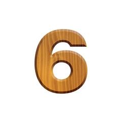 6 - Chiffre en bois - alphabet