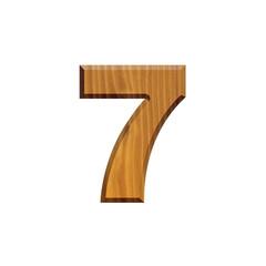 7 - Chiffre en bois - alphabet