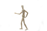 Wooden Manikin Doll With Bad Back poster