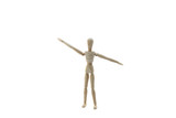 A Wooden Manikin Doll Exercising poster