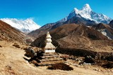 Ama Dablam Lhotse and top of Everes