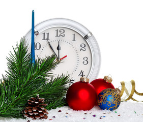 Baubles with clock