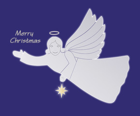 Angel of Christmas. Postcard.