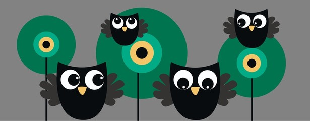 owl header banner or tag