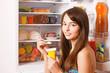 smile girl with yogurt
