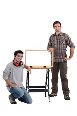 Cabinet maker and apprentice
