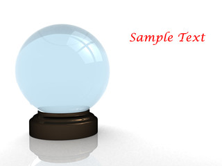 3d render of a crystal ball