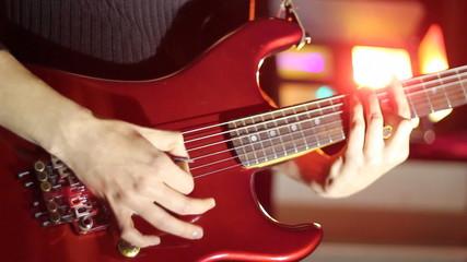 Red,rock guitar