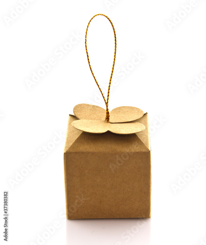 mini gift box on white background