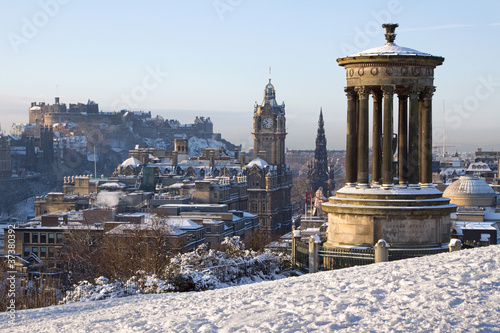 Edinburgh Winter City And Castle View