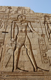 Egyptian engraved image on wall in Kom Ombo temple, Egypt