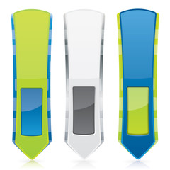 Web style vertical banner set