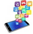 ベクター、スマートフォンと沢山のアプリ