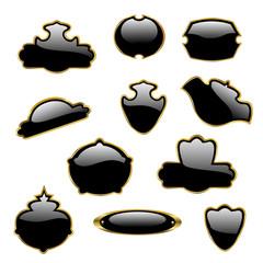 Vector black labels