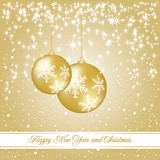 New year and Christmas luxury card