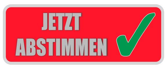 CB-Sticker rot eckig oc JETZT ABSTIMMEN