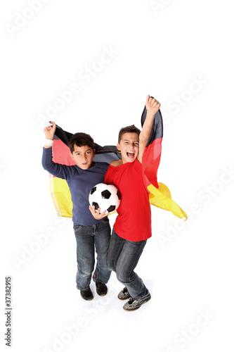 Junge Fußballfans