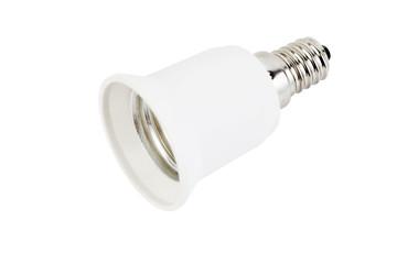 White fixture light isolated on white background