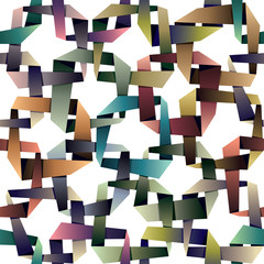 Origami style seamless pattern, multicolored.